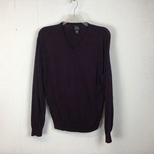 Jos A Bank mens purple v-neck Sweater XL